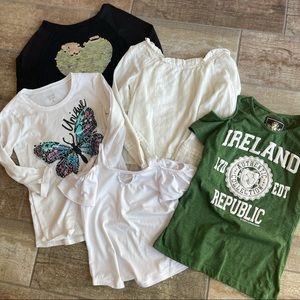 Girls Clothing Bundle T-Shirts Tops 7/8